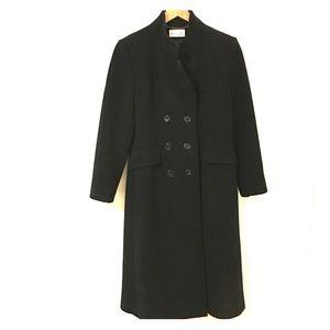 Jackets & Blazers - Vintage Double Breasted Black Wool Midi Coat